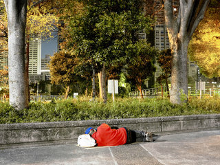 Tokyo, Shinjuku, homeless people  GIFT - The Other Hundred